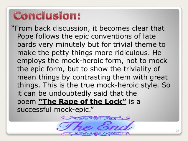 rape of the lock as mock Free pope rape of the lock mock-epic papers, essays, and research papers.