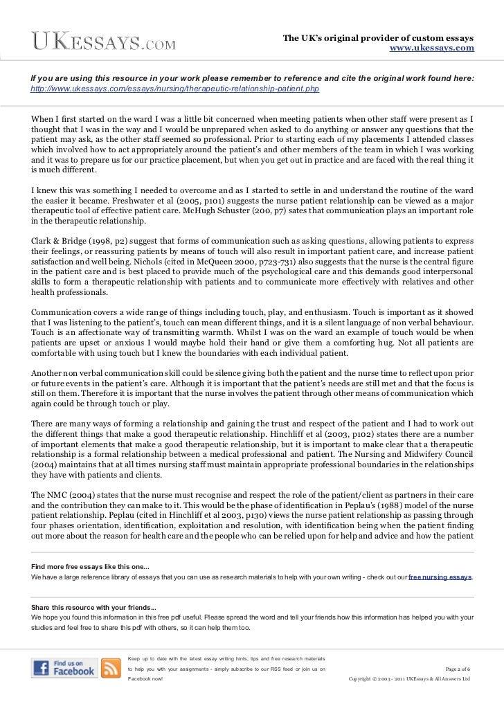 Reflective essay nursing communication medical essay writing service