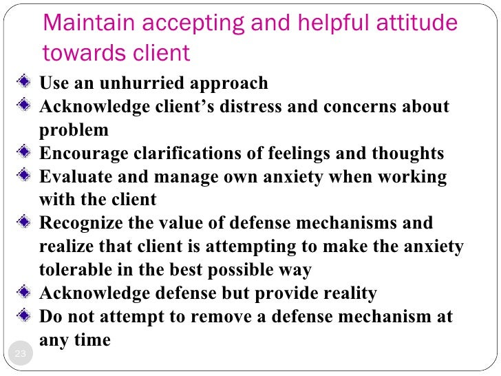 Therapeutic communication anxiety and defense mechanism – Defense Mechanism Worksheet