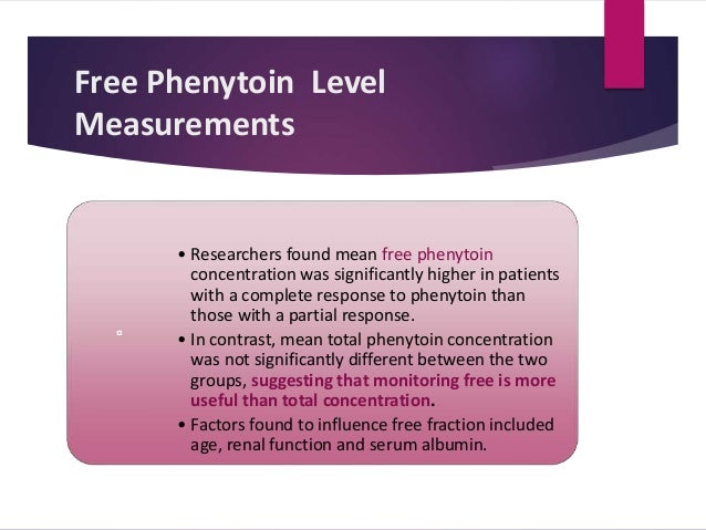 Phenytoin Level Timing