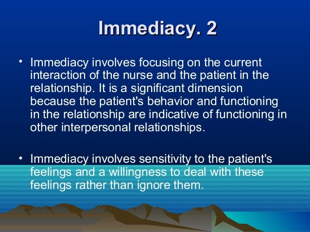 therapeutic relationship between nurse and patient