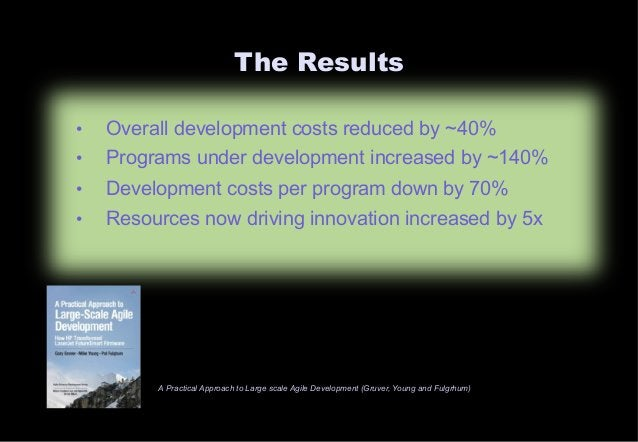 The Results  • Overall development costs reduced by ~40%  • Programs under development increased by ~140%  • Development c...