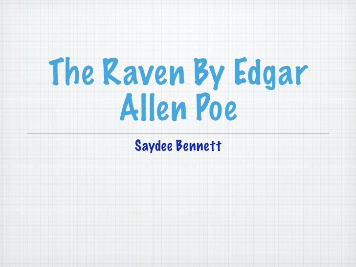 the raven with line numbers