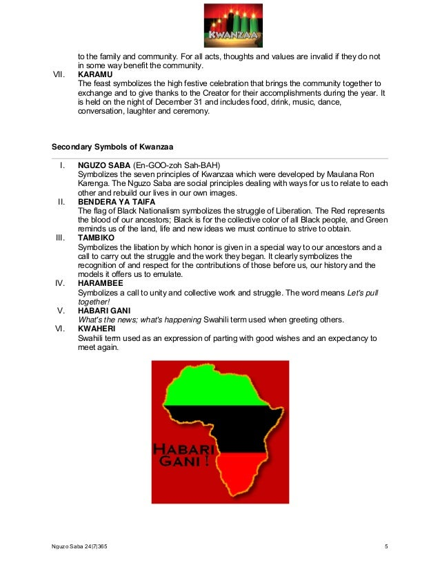 The Rbg Kwanzaa Nguzo Saba Booklet For Download With Mp3s Included