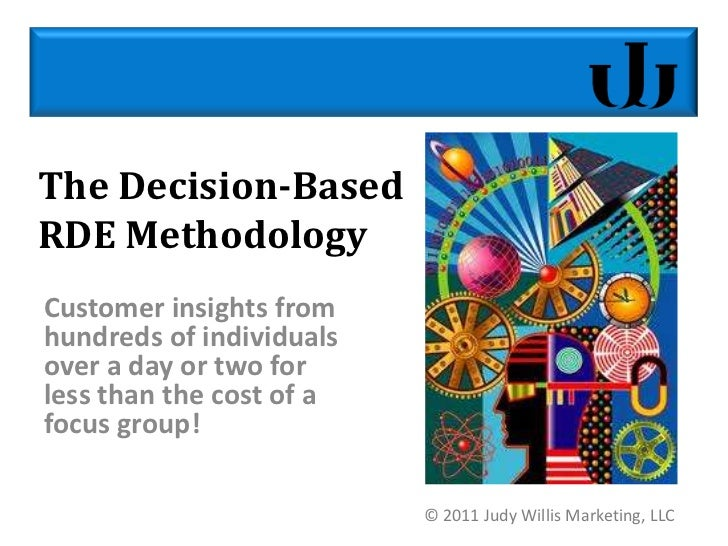 The Decision-Based RDE Methodology<br />Customer insights from hundreds of individuals over a day or two for  less than th...