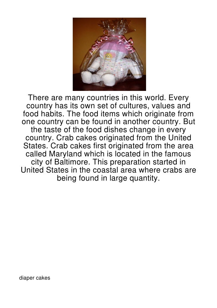 There are many countries in this world. Every country has its own set of cultures, values andfood habits. The food items w...