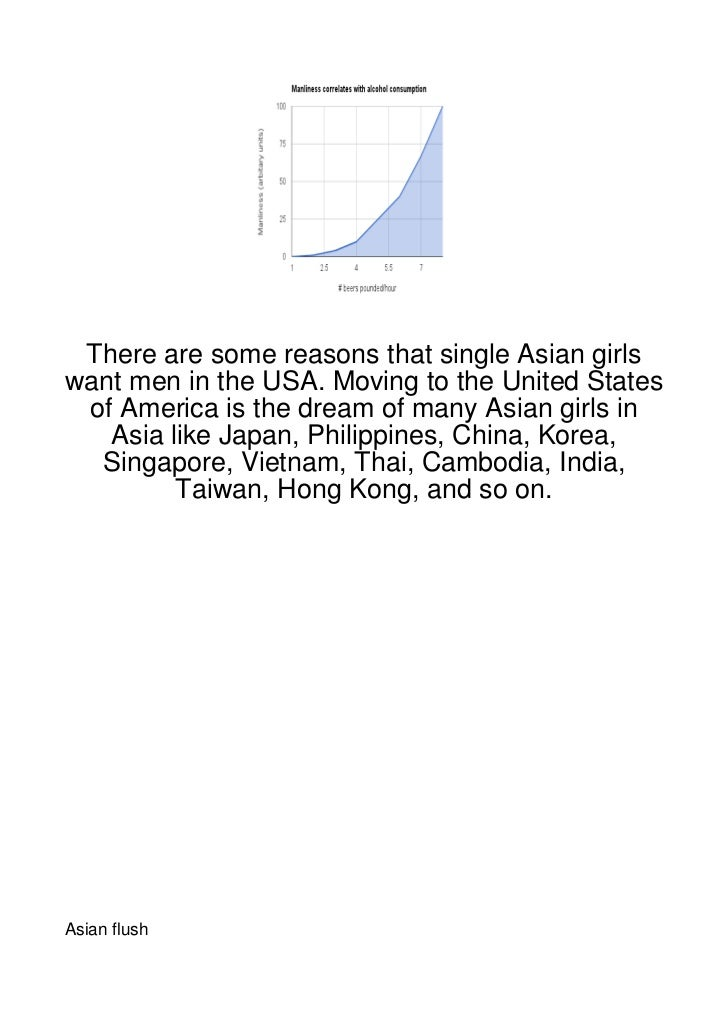 There are some reasons that single Asian girlswant men in the USA. Moving to the United States of America is the dream of ...