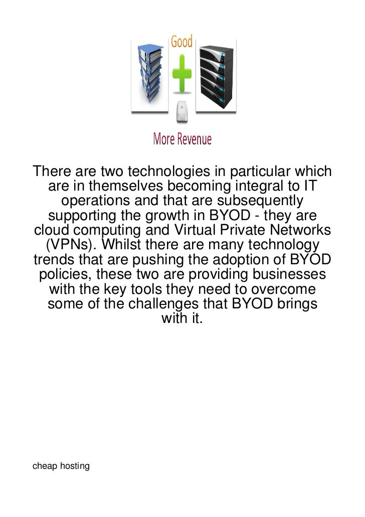There are two technologies in particular which   are in themselves becoming integral to IT     operations and that are sub...