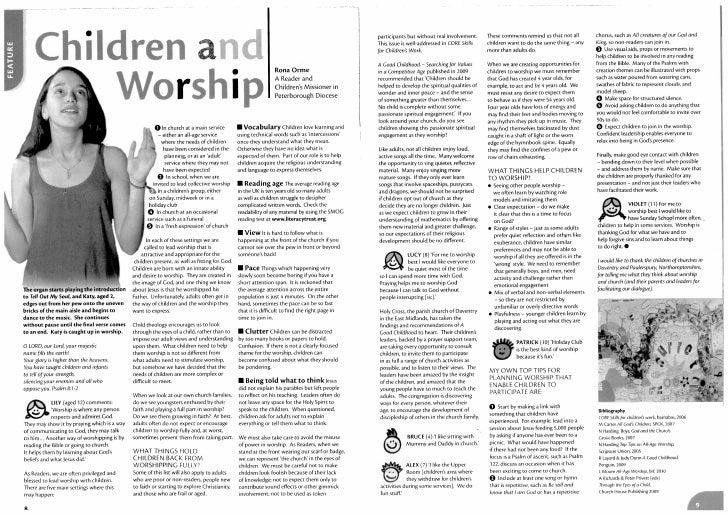 Children and worship