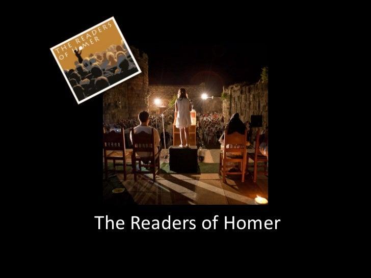Τhe Readers of Homer