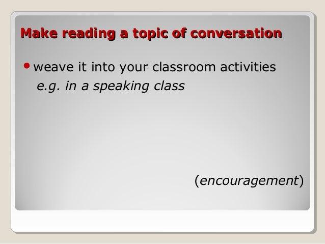 reading habit speaking topic