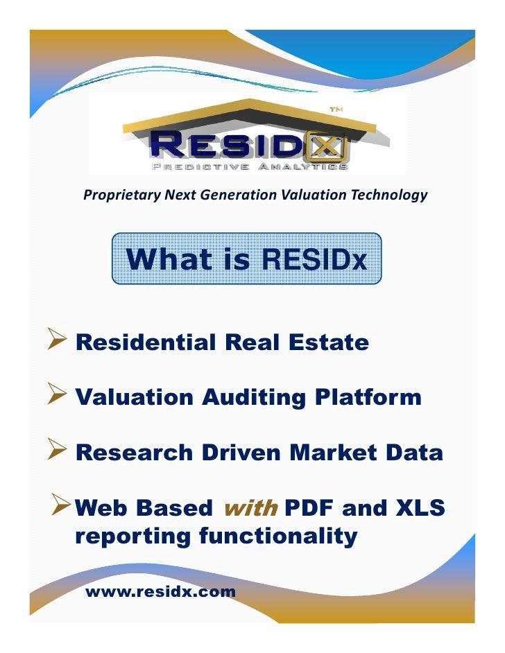 """RESIDx                           !"""" #                $      %   &%"""