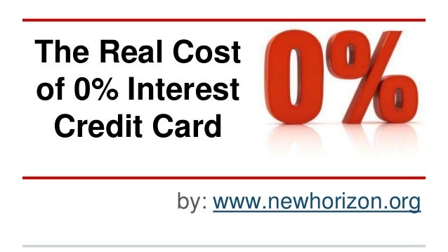 The Real Cost of 10% Interest Credit Card