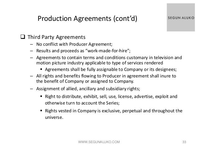 Production contract agreement production agreement freelance video the real deal in reality tv platinumwayz