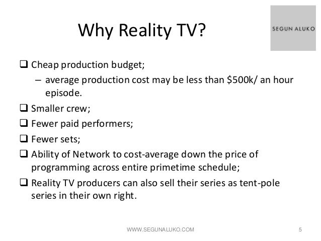 The Real Deal In Reality Tv