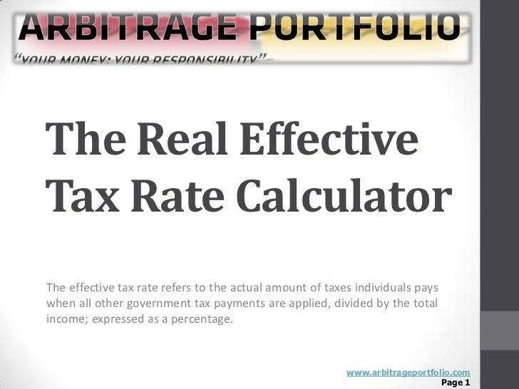 Statutory vs. Effective Tax Rate
