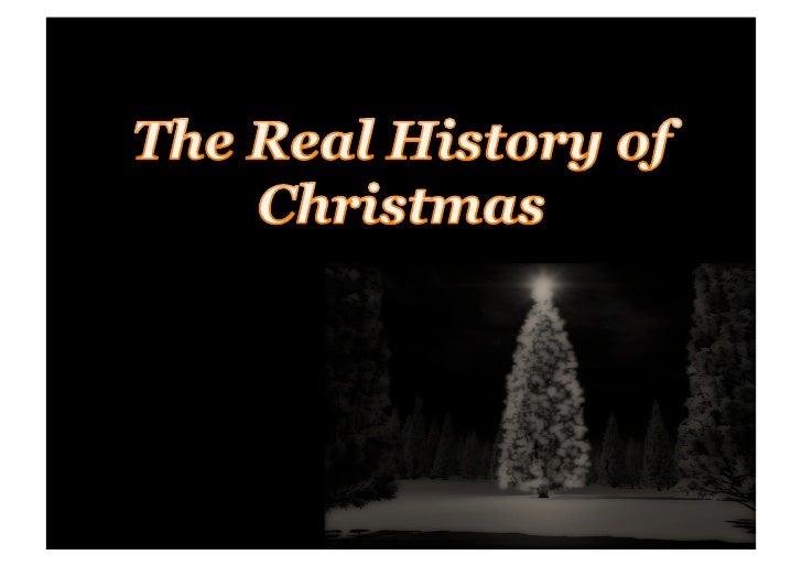 Real History Of Christmas