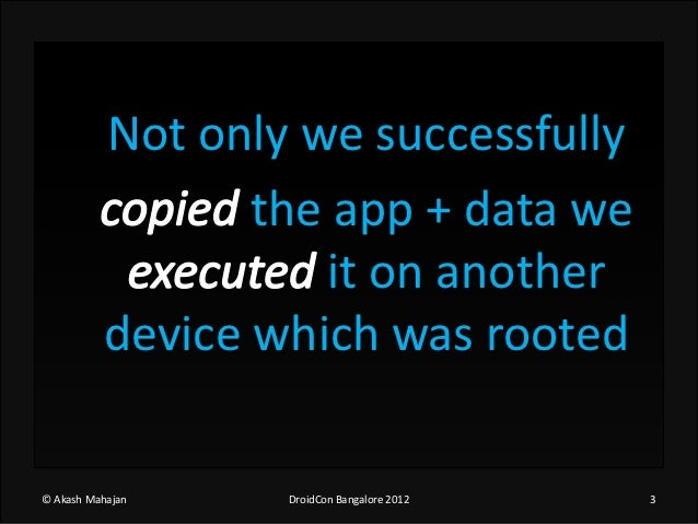 The real incident of stealing a droid app+data Slide 3