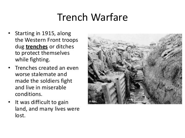 "the trenches on the western front essay Inside the trenches diagram trench warfare history, all quiet on the western front, and the photo essay ""the shrine down the hall"" used books in class."
