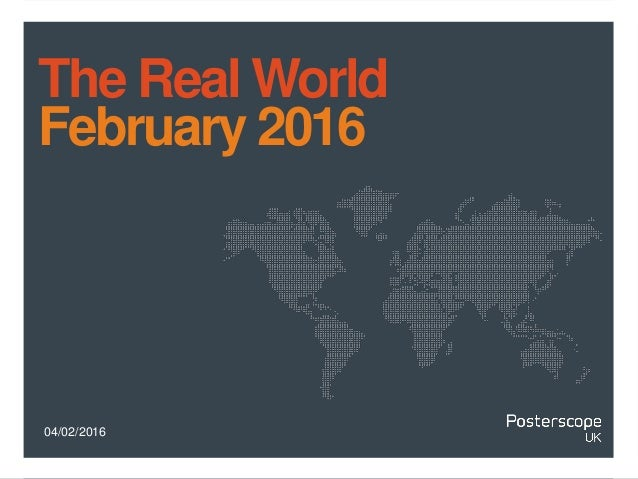 04/02/2016 The Real World February 2016