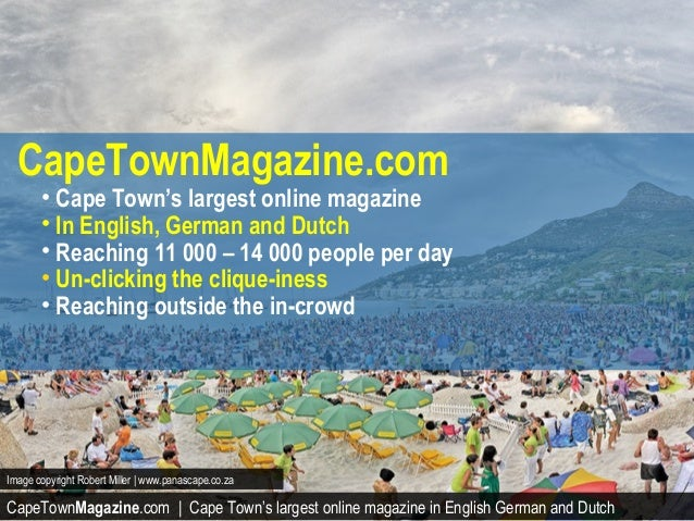 CapeTownMagazine.com | Cape Town's largest online magazine in English German and DutchImage copyright Robert Miller | www....
