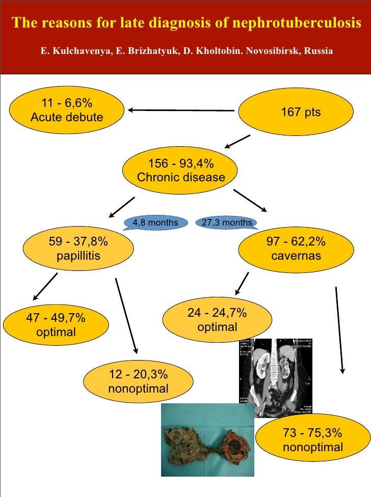 The reasons for late diagnosis of nephrotuberculosis    E. Kulchavenya, E. Brizhatyuk, D. Kholtobin. Novosibirsk, Russia  ...
