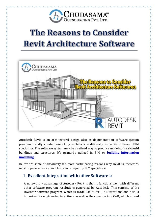 The reasons to consider revit architecture software