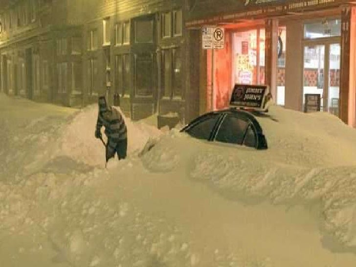 The Recent Blizzards in America Slide 3