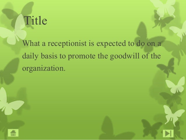 Duties And Responsibilities Of A Receptionist