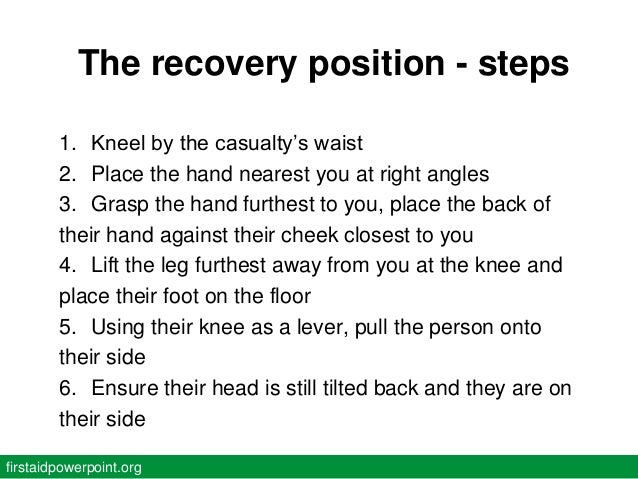 Image result for 4 steps of CPR recovery position