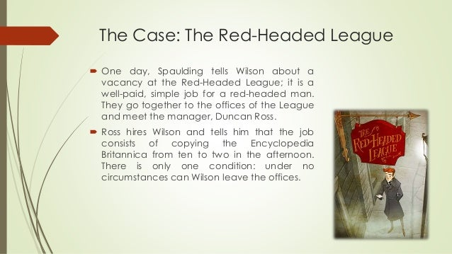 red headed league short summary