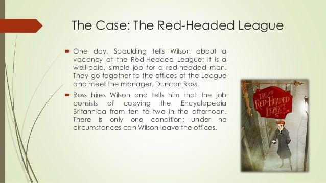red headed league short summary
