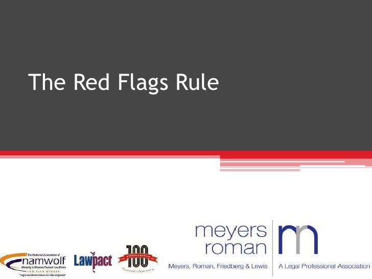 The Red Flags Rule <br />Your Guide to Compliance<br />