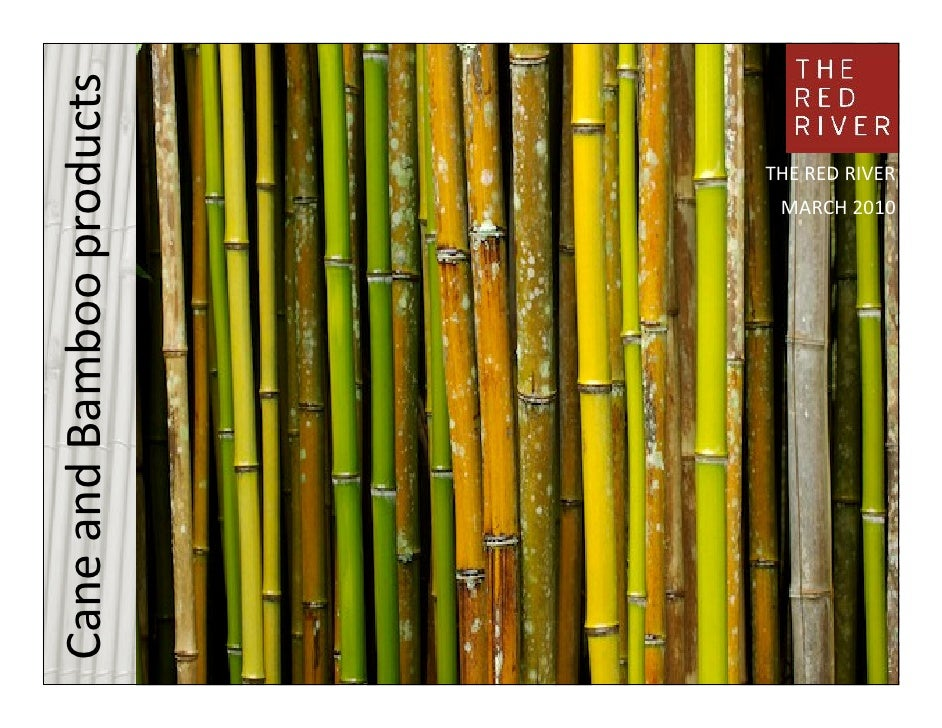 Cane and Bamboo products                                THE RED RIVER                   MARCH 2010