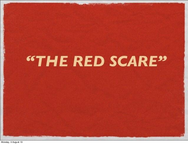 Red Scare developemtn