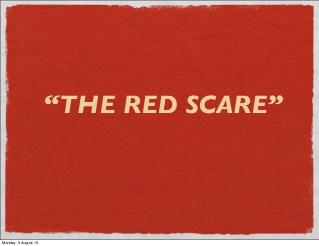 The second red scare essay