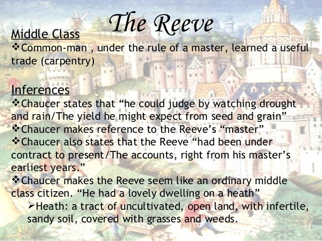 An evaluation of the character of reeve in the canterbury tales