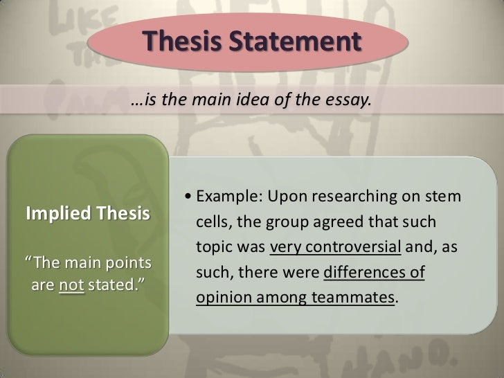 English Essay Com Thesis Statement   How To Write A Thesis Essay also Research Essay Papers The Reflective Essayfinal Healthy Eating Essays