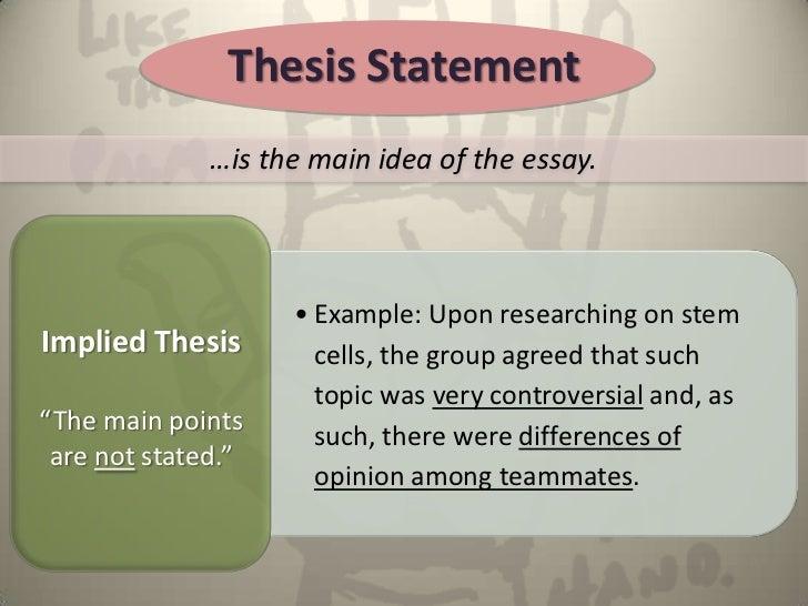 Thesis Statement U2026 ...