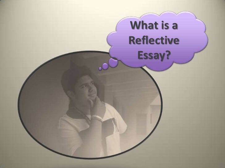 The reflective essay