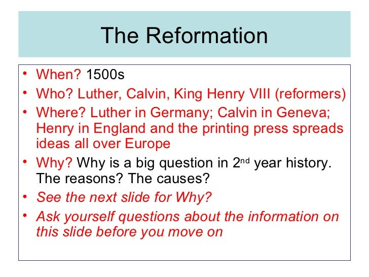 cause of the reformation Pinkmonkey online study guide-world history 43 causes of the reformation there were several instances of injustice practiced by the church yet it was.