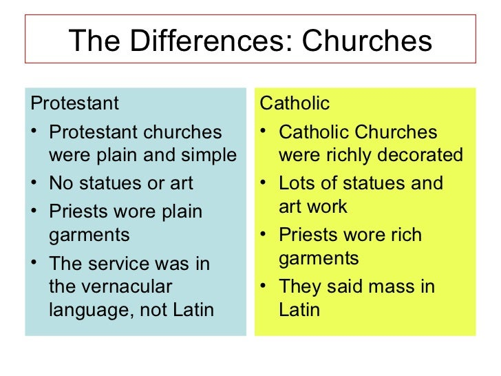 Resultado de imagen para protestant vs catholic for kids
