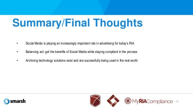 Ria social media policy for Ria compliance manual template