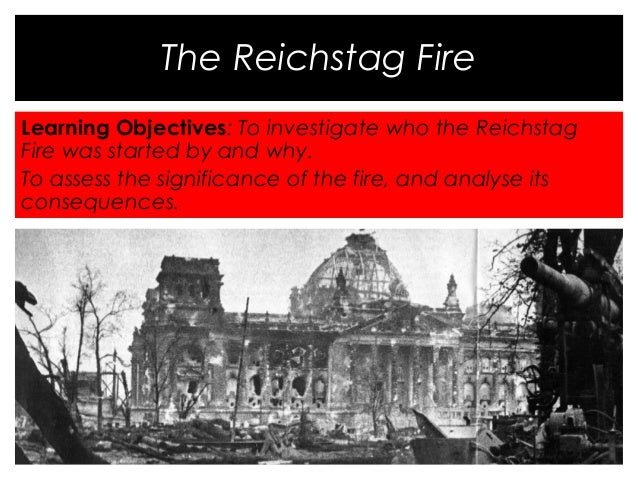 the reichstag fire The sudden disaster that requires the end of checks and balances, the suspension of freedom of expression, and so on—this is the oldest trick in the book.
