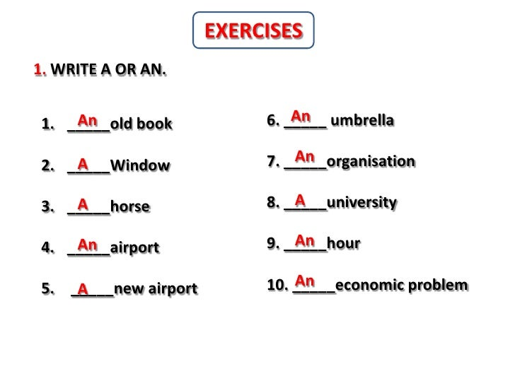 Write a an or some
