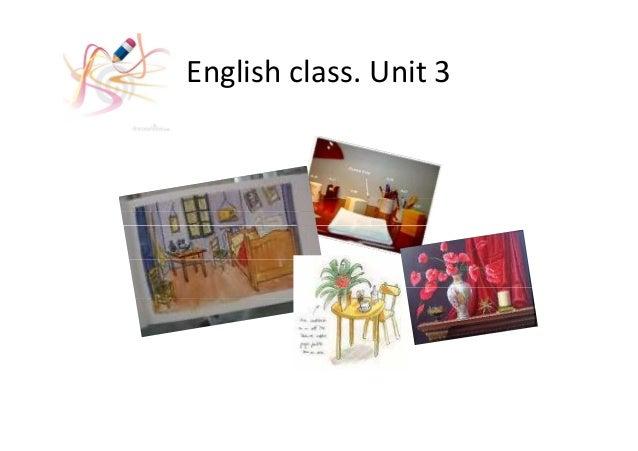 English class. Unit 3