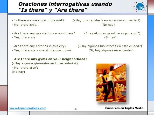 www.IngenieroGeek.com Curso Yes en Ingl�s Medio - Is there a shoe store in the mall? (�Hay una zapater�a en el centro come...