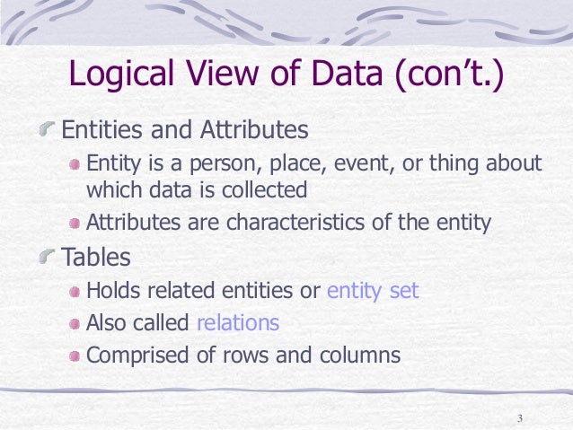 chapter 3 relational database model The online version of relational database design and implementation by jan   chapter 3 - why good design matters  chapter 5 - the relational data model.
