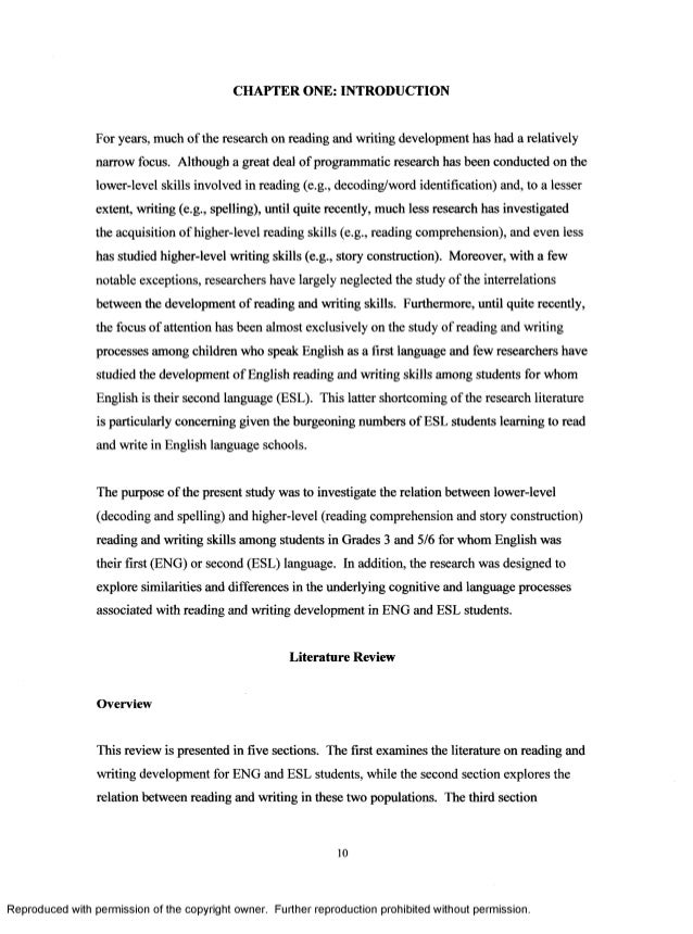 the relation between reading and writing development in english and e  11