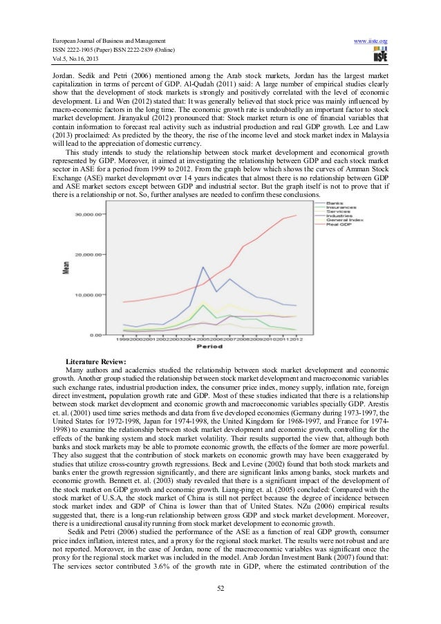 relationship between stock market development and economic growth Stock markets: a spur to economic growth is there an independent link between stock market development and growth  the relationship between stock markets.